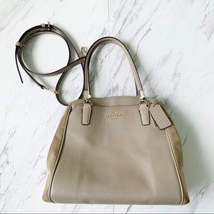 Coach Taupe Purse with Suede